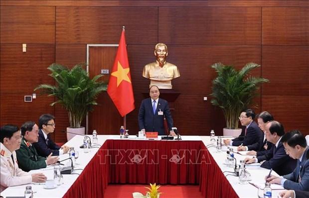 Primer ministro de Vietnam insta a tomar medidas mas oportunas y audaces contra el COVID-19 hinh anh 1