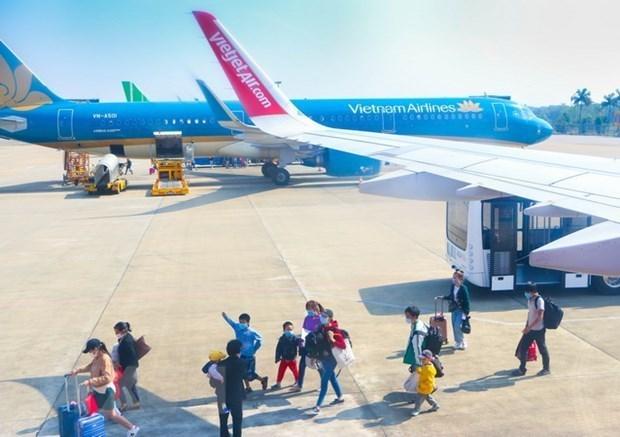 Aumenta llegada de visitantes internacionales a Vietnam en enero hinh anh 1