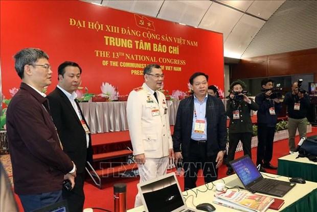 Policia de Vietnam por garantizar maxima seguridad del XIII Congreso partidista hinh anh 1