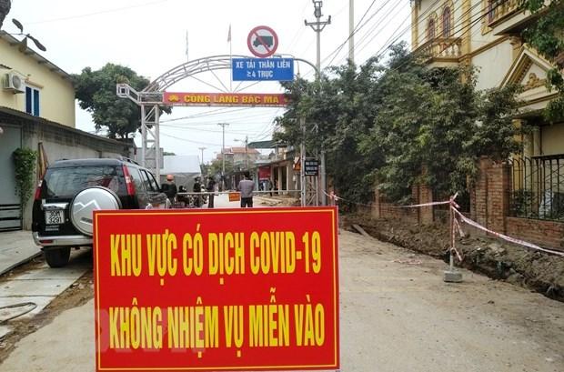 Aplican distanciamiento social por COVID-19 en ciudad vietnamita de Dong Trieu hinh anh 1