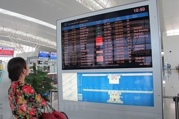 Alcanza 95,4 por ciento tasa de puntualidad de vuelos en Vietnam hinh anh 1