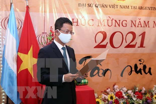 Comunidad vietnamita en Argentina se une al ambiente festivo del Tet hinh anh 1