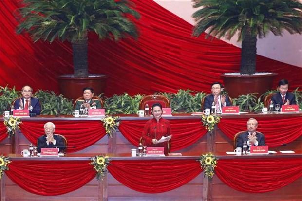 Comunicado de prensa sobre sesion de clausura del XIII Congreso Nacional del Partido Comunista de Vietnam hinh anh 1
