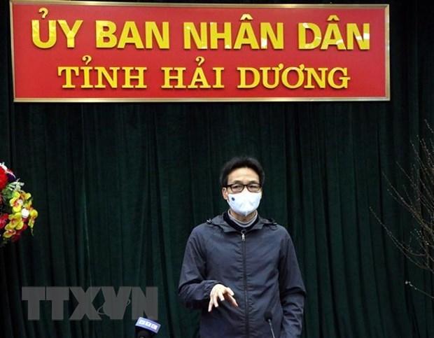 Vicepremier inspecciona prevencion del COVID-19 en provincia vietnamita de Hai Duong hinh anh 1