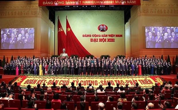 Exito del XIII Congreso Nacional del PCV creara base solida para el desarrollo de Vietnam hinh anh 1