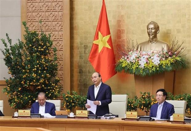Primer Ministro de Vietnam insta a fortalecer control epidemico ante festividades del Tet hinh anh 1
