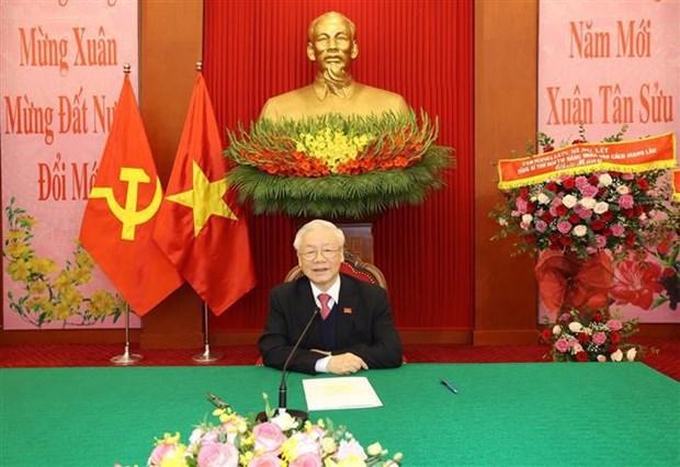 Ratifican la solidaridad especial entre Vietnam y Laos hinh anh 1