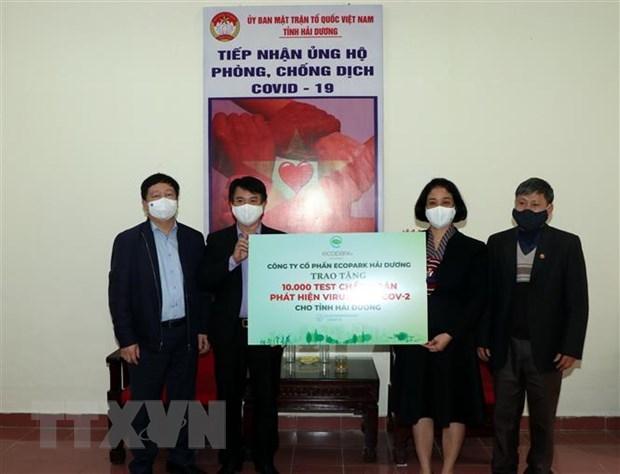Provincia recibe ayuda de empresas para enfrentar contagio del COVID-19 hinh anh 1