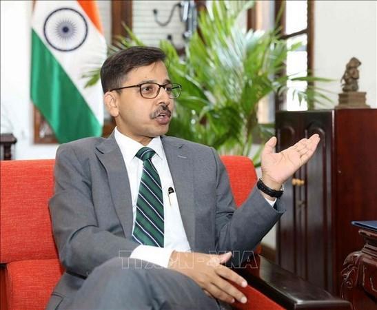 Resalta embajador indio en Vietnam exito de congreso partidista hinh anh 1