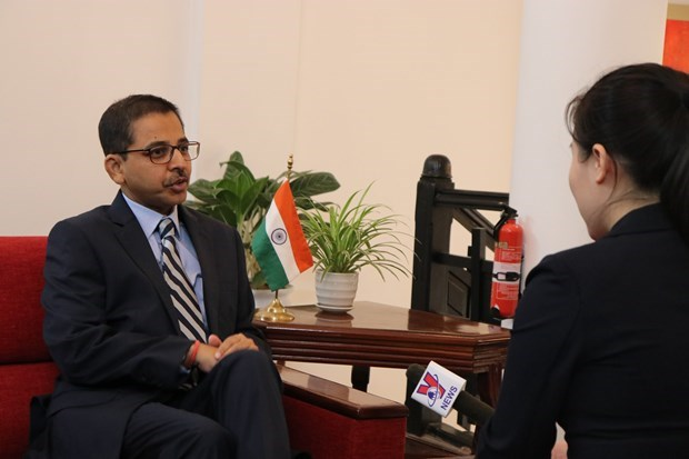Resalta embajador indio en Vietnam exito de congreso partidista hinh anh 2