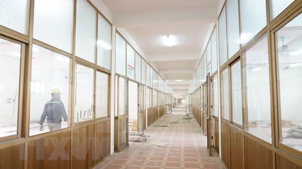 Aceleran construccion de hospital de campana de COVID-19 en provincia vietnamita de Hai Duong hinh anh 1