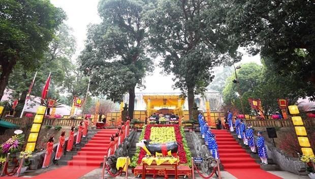 Hanoi recrea rito real en Ciudadela Imperial de Thang Long hinh anh 1