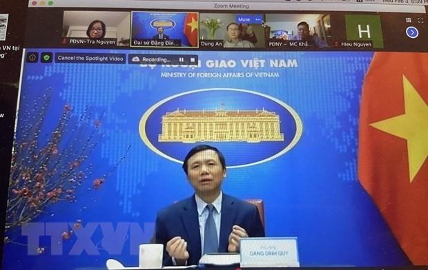 Comunidad vietnamita en Nueva York celebra el Ano Nuevo Lunar 2021 hinh anh 1