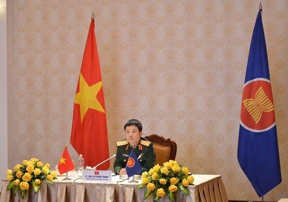 Efectuan reunion en linea del Grupo de Trabajo de Altos Funcionarios de Defensa de ASEAN hinh anh 2