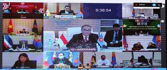 Efectuan reunion en linea del Grupo de Trabajo de Altos Funcionarios de Defensa de ASEAN hinh anh 1