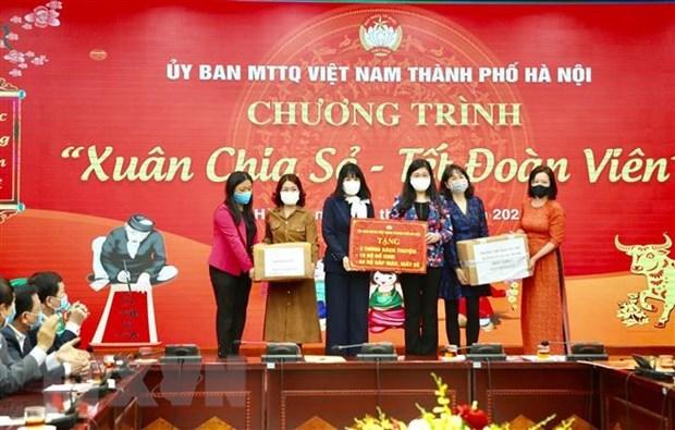 Hanoi celebra programa humanitario en ocasion de Tet hinh anh 1
