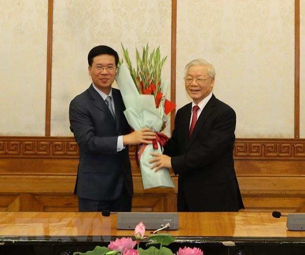 Designan dos altos dirigentes del Partido Comunista de Vietnam hinh anh 1