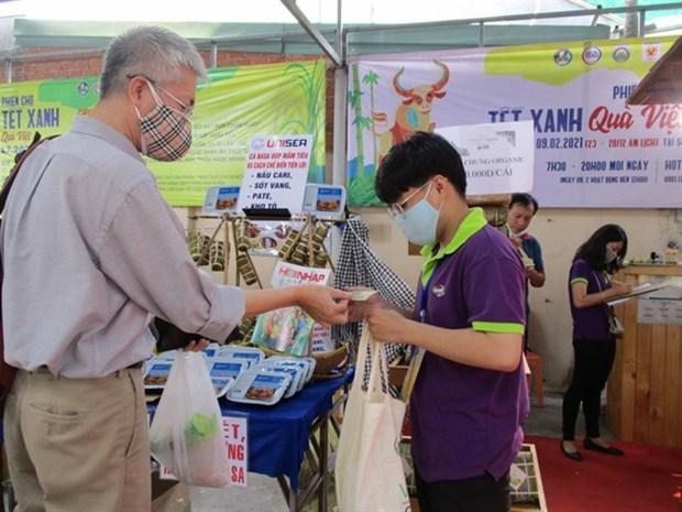 Pasteles Banh Chung organicos, entre los preferidos en ocasion del Ano Nuevo Lunar hinh anh 1