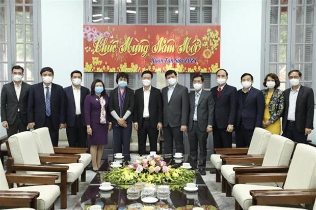 Dirigente partidista visita Instituto Nacional de Higiene y Epidemiologia de Vietnam hinh anh 1