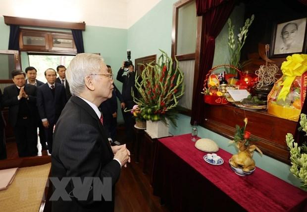 Maximo dirigente de Vietnam enaltece figura del Presidente Ho Chi Minh hinh anh 1