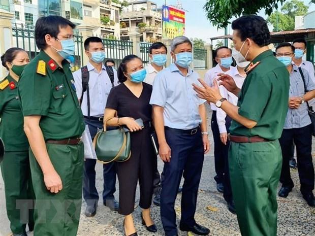 Revisan en Ciudad Ho Chi Minh labores de tratamiento a pacientes del COVID-19 hinh anh 1
