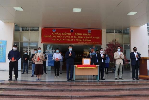 Dados de alta decenas de pacientes en foco de rebrote de COVID-19 en Vietnam hinh anh 1