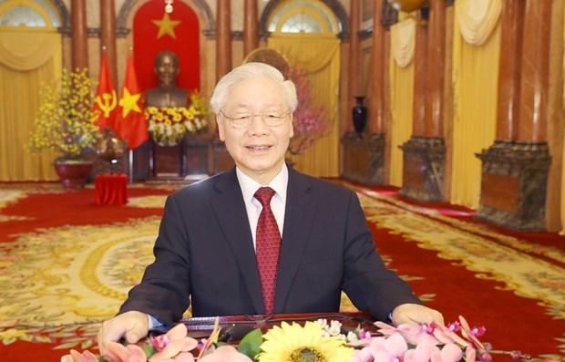 Maximo dirigente de Vietnam felicita al pueblo por Ano Nuevo Lunar 2021 hinh anh 1