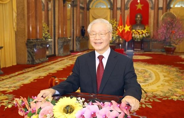 Maximo dirigente de Vietnam resalta determinacion del pais hacia nueva etapa de desarrollo hinh anh 1