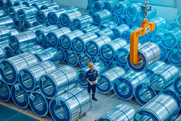 Grupo vietnamita Hoa Phat exporta 22 mil toneladas de chapas galvanizadas hinh anh 1