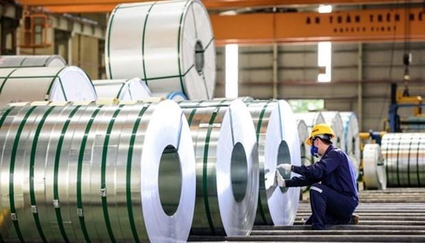 Empresa vietnamita aumenta exportaciones de chapas de acero hinh anh 1