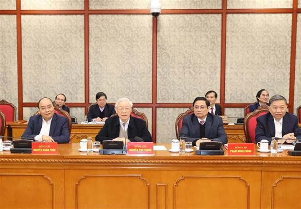 Buro Politico y Secretariado del Partido Comunista de Vietnam debaten misiones centrales hinh anh 2