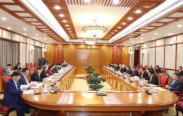 Buro Politico y Secretariado del Partido Comunista de Vietnam debaten misiones centrales hinh anh 1