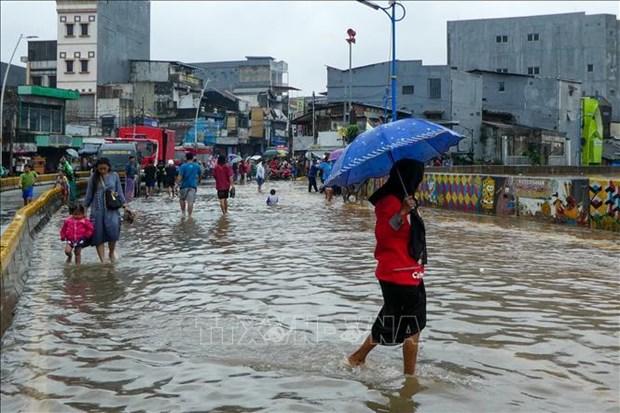 Evacuan a mas de mil habitantes por inundaciones en Indonesia hinh anh 1