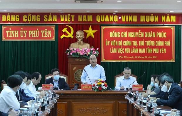 Premier de Vietnam propone agilizar progreso de turismo de Phu Yen hinh anh 1