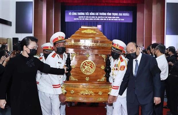 Efectuan honras funebres al exvicepremier de Vietnam Truong Vinh Trong hinh anh 1
