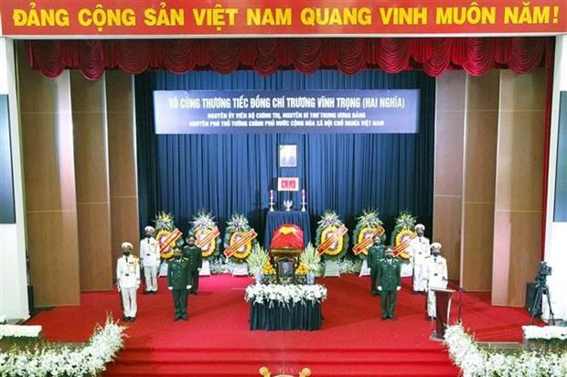 Efectuan honras funebres al exvicepremier de Vietnam Truong Vinh Trong hinh anh 2