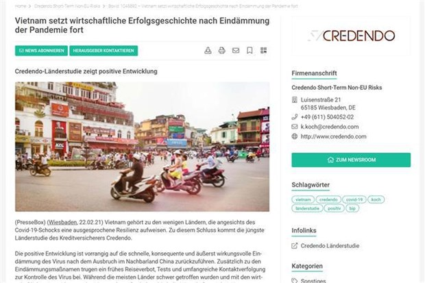 Vietnam mantendra su exito economico, segun grupo europeo de seguros hinh anh 1