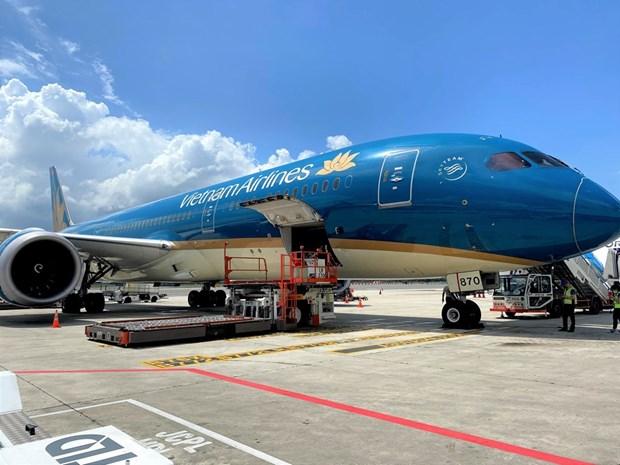 Vietnam Airlines dispuesta a asumir transporte de vacunas contra el COVID-19 hinh anh 1