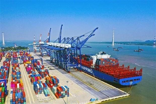 Crece despacho mercantil en puertos maritimos de Vietnam en enero hinh anh 1
