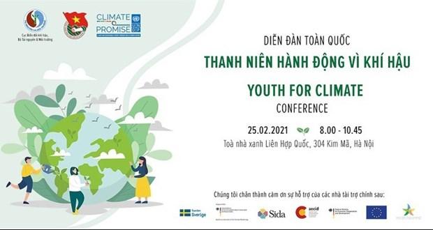 Debaten en Hanoi acciones juveniles contra el cambio climatico hinh anh 1