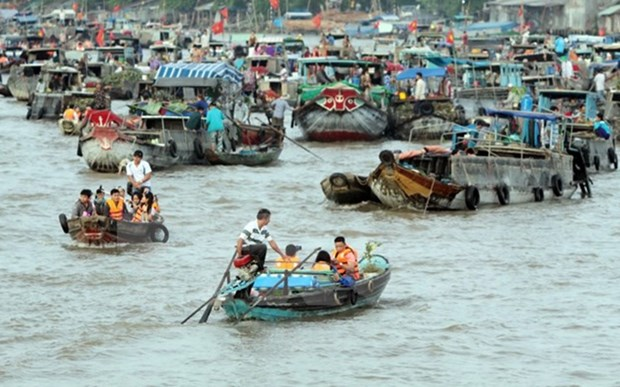 Ciudad vietnamita de Can Tho por preservar y desarrollar el mercado flotante de Cai Rang hinh anh 1