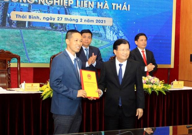 Vicepremier pide crear condiciones para atraer proyectos en zona industrial en Thai Binh hinh anh 2