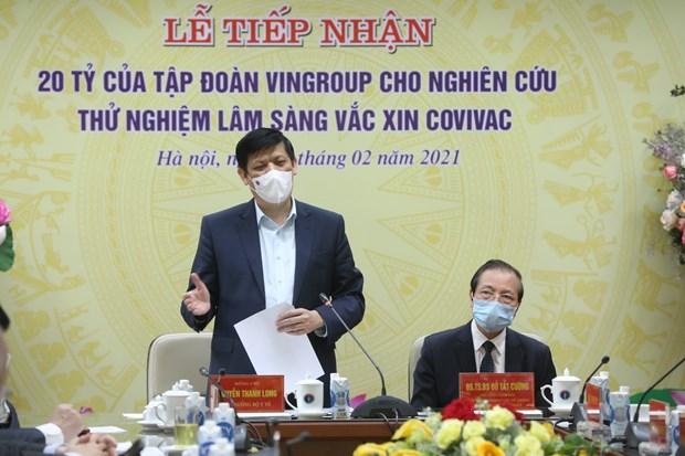 Ofrecen asistencia financiera a ensayos clinicos de vacuna vietnamita contra COVID-19 hinh anh 2