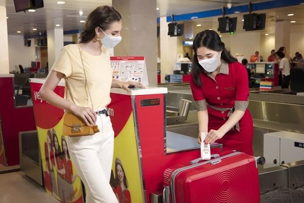 Aerolinea vietnamita Vietjet ofrece equipaje gratuito en rutas nacionales hinh anh 1