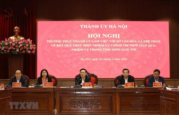 Buscan consolidar papel de Hanoi como gran centro cultural nacional hinh anh 1