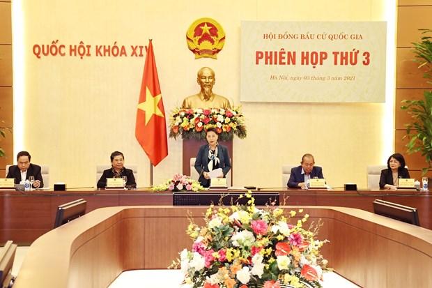 Presidenta del Parlamento preside tercera sesion del Consejo Electoral Nacional hinh anh 1