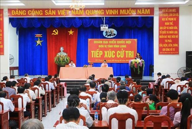 Vicepresidenta de Vietnam intercambia con votantes de provincia de Vinh Long hinh anh 1