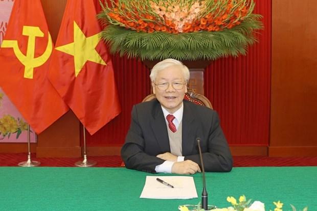 Lideres internacionales envian felicitaciones al maximo dirigente partidista de Vietnam hinh anh 1