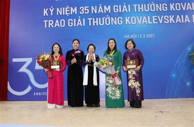 Premio Kovalevskaia resalta contribuciones de cientificas vietnamitas hinh anh 1