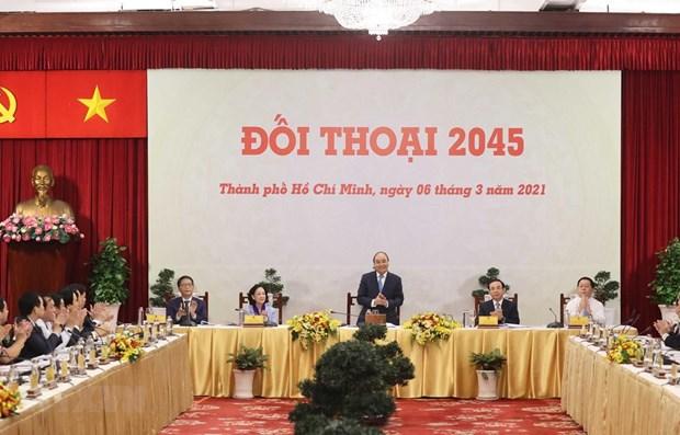 Dialoga premier de Vietnam con comunidad empresarial hinh anh 1